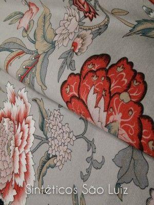 ART DECOR - CINZA FLORAL CLARO